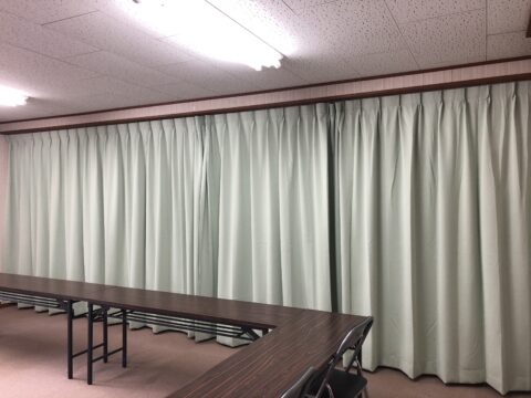 間仕切りカーテン 自治会集会場